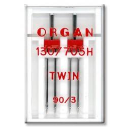 Machine Needles ORGAN TWIN 130/705 H - 90 (3,0) - 2pcs/plastic box