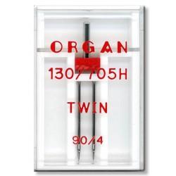 Machine Needles ORGAN TWIN 130/705 H - 90 (4,0) - 1pcs/plastic box