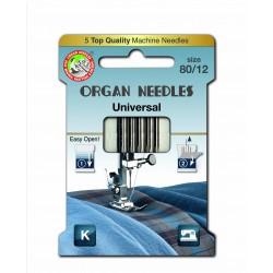 Machine Needles ORGAN UNIVERSAL (Standard) 130/705H - 80 - 5pcs/paper box