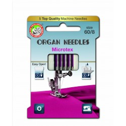 Machine Needles ORGAN MICROTEX ASSORT - 60- 5pcs/card