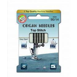 Machine Needles ORGAN TOP STITCH 130/705H - 90 - 5pcs/card