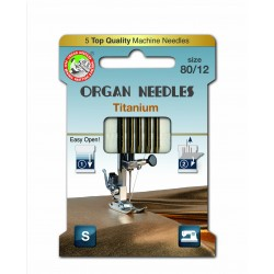 Machine Needles ORGAN TITANIUM 130/705H - 80 - 5pcs/card