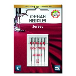 Machine Needles ORGAN JERSEY 130/705H - 70 - 5pcs/plastic box/card