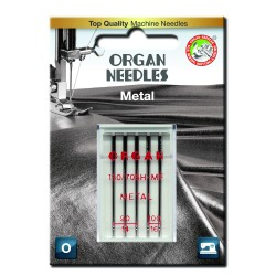 Machine Needles ORGAN METAL 130/705H - Assort - 5pcs/plastic box/card (90:3 ,100:2pcs)