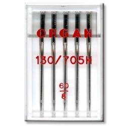 Strojové jehly ORGAN UNIVERSAL 130/705H - 60 - 5ks/plastová krabička