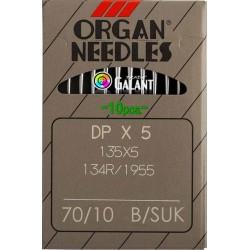 Industrial Machine Needles ORGAN DPx5 SUK - 70/10 - 10pcs/card