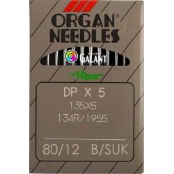 Industrial Machine Needles ORGAN DPx5 SUK - 80/12 - 10pcs/card