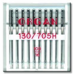 Machine Needles ORGAN UNIVERSAL 130/705 H - 100 - 10pcs/plastic box