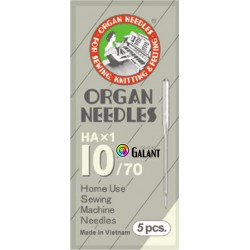 Machine Needles ORGAN HAx1 130/705H - 70/10 - 5pcs/package