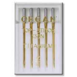 Machine Needles ORGAN TOP STITCH TITANIUM 130/705H - 70 - 5pcs/plastic box